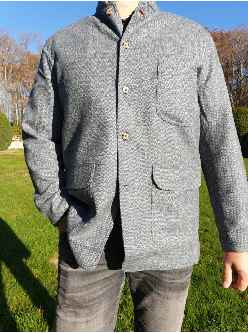 Jacket tweed grey/blue